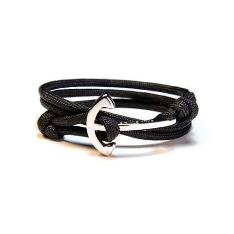 Cruising - Black Anchor Bracelet
