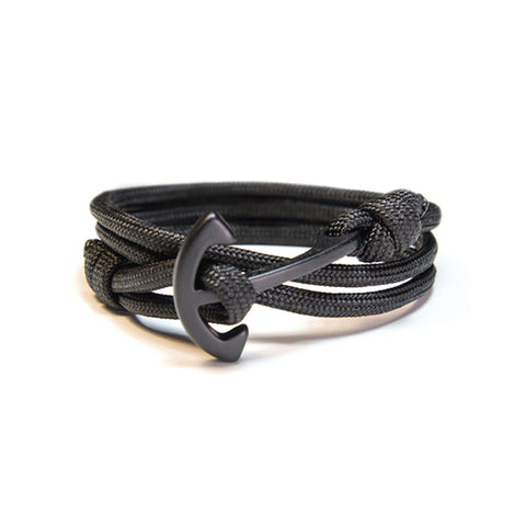 Cruising - Black Anchor Bracelet (Noir)