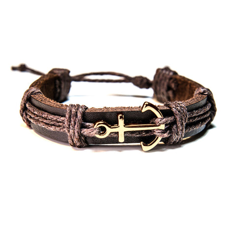 Explorer - Gold Anchor Bracelet