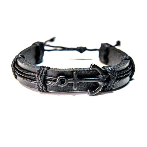 Explorer - Black Anchor Bracelet (Noir)
