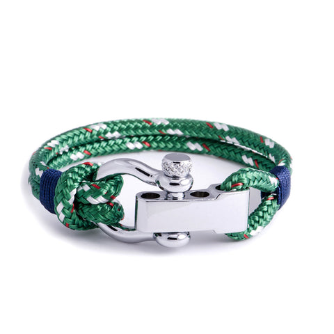 Regatta - Green Shackle Bracelet