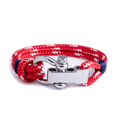 Regatta - Red Shackle Bracelet