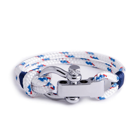 Regatta - White Shackle Bracelet