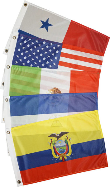 Courtesy Flags - Americas - Pacific Coast  (13 Countries)