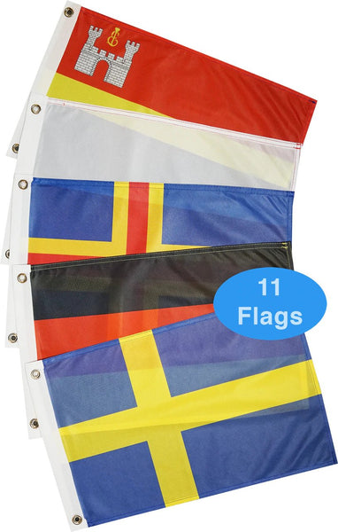Courtesy Flags - Europe - Baltic Sea (11 Countries)