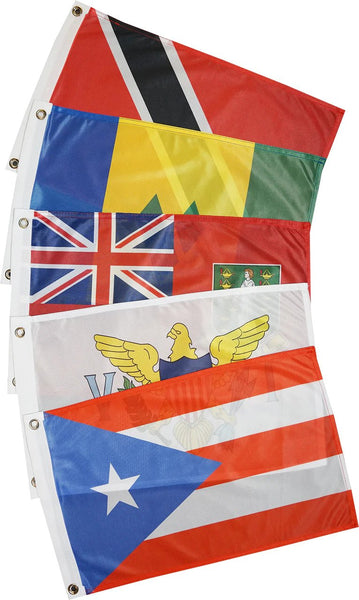 Courtesy Flags - Caribbean - East (21 Countries)