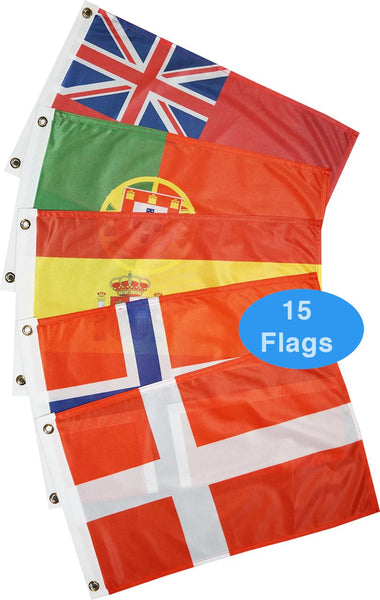Courtesy Flags - Europe - Atlantic Coast (15 Countries)