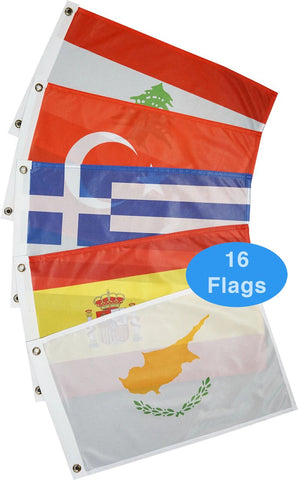 Courtesy Flags - Europe - Mediterranean Sea (16 Countries)
