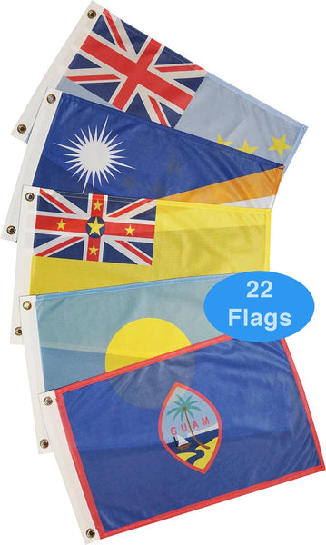 Courtesy Flags - Pacific Ocean (22 Countries)