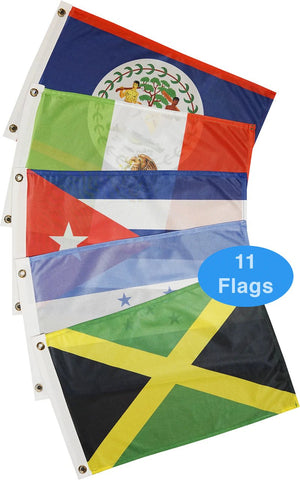 Courtesy Flags - Caribbean - West (11 Countries)
