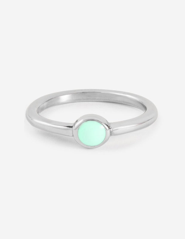 Amazonite Ring Christian Ring