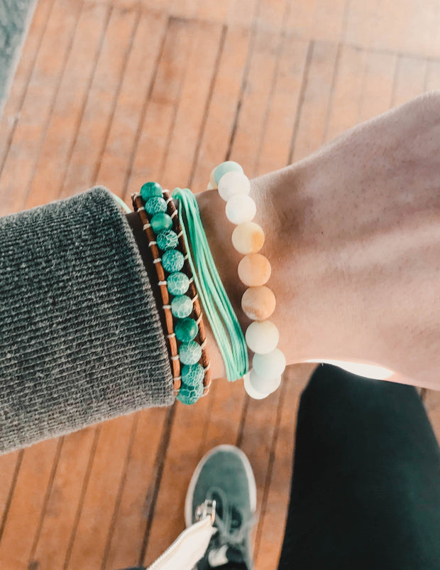Aquamarine Wrap Bracelets Elevated Faith