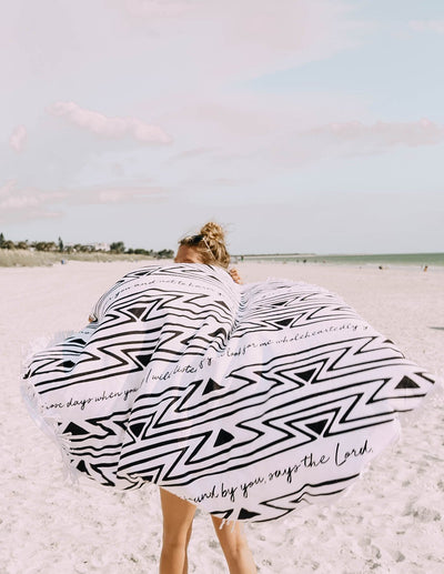 Aztec Round Beach Towel Christian Beach Towel
