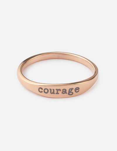 Courage Ring Christian Ring