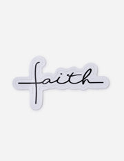 Cursive Faith Sticker Christian Sticker