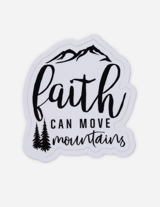 Faith Can Move Mountains Sticker Christian Sticker