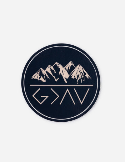 Highs and Lows Mountains Sticker Christian Sticker
