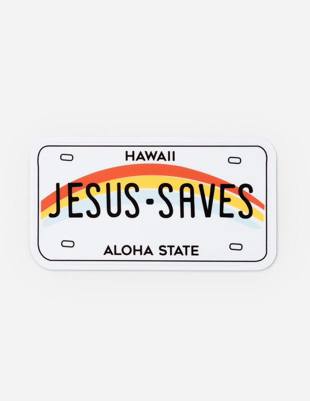 Jesus Saves Sticker Christian Sticker
