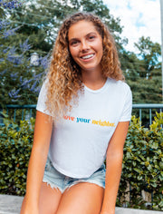 Love Your Neighbor Cropped Tee Christian T-Shirt