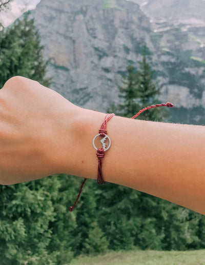 Mountain Charm Christian Bracelets