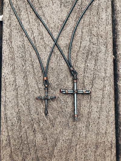 Original Nail Cross Necklace Christian Necklace