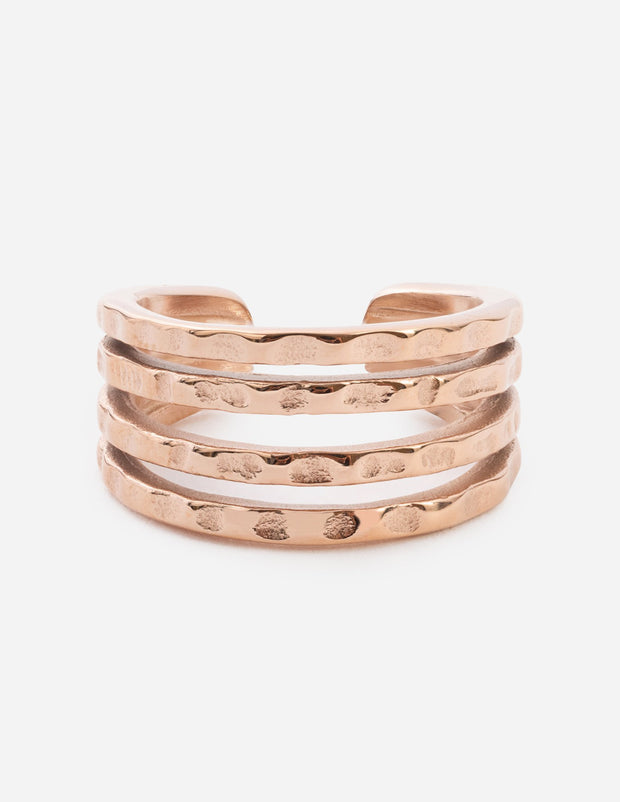 Rose Gold Layered Ring Christian Ring