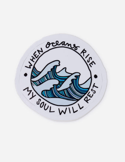 When Oceans Rise Sticker Christian Sticker
