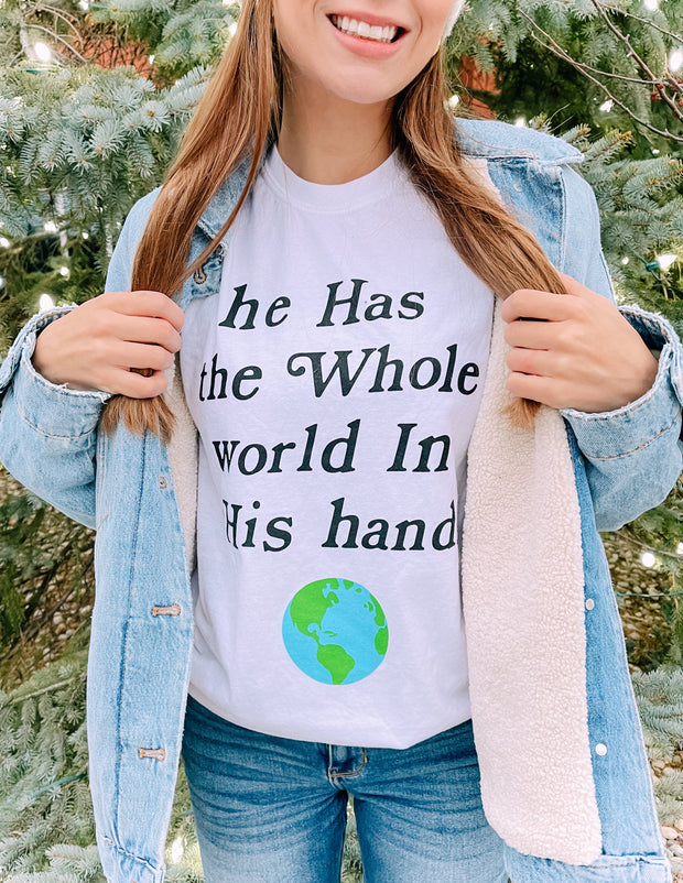 World in His Hands Unisex Tee Christian T-Shirt
