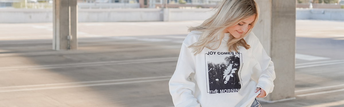 The JOY Collection: A collection of pieces rooted in faith that spreads JOY to all.