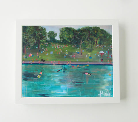 Barton Springs Pool - Art Print