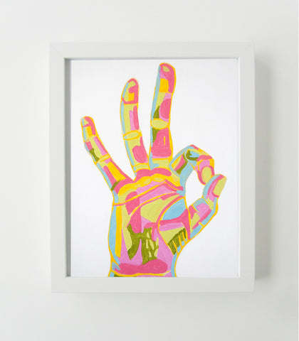 Okay Hand Sign - Art Print