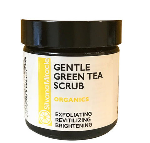 Gentle Scrub Green Tea / Exfoliates Dead Dull Skin / Skin Brightening