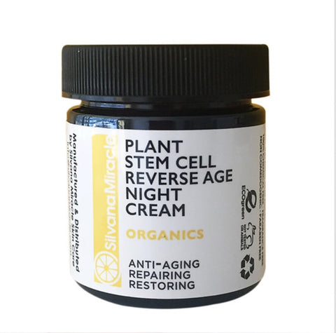 Plant Stem Cell Night Repair Cream / Anti-aging - Silvana Miracle Handmade Natural Skin Care