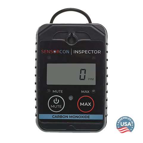 Sensorcon CO Inspector front view - Assembled in the USA