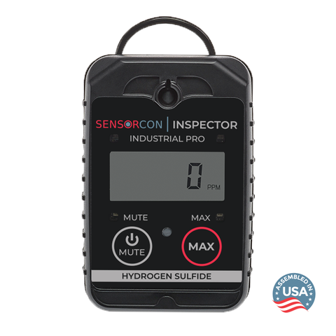 Sensorcon H2S Inspector Industrial Pro front view - Assembled in the USA