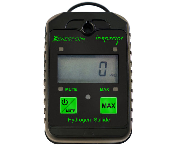 Personal H2S Meter - The Inspector Portable Hydrogen Sulfide Detector (H2S Inspector) - Sensorcon - Sensing Products by Molex - 1