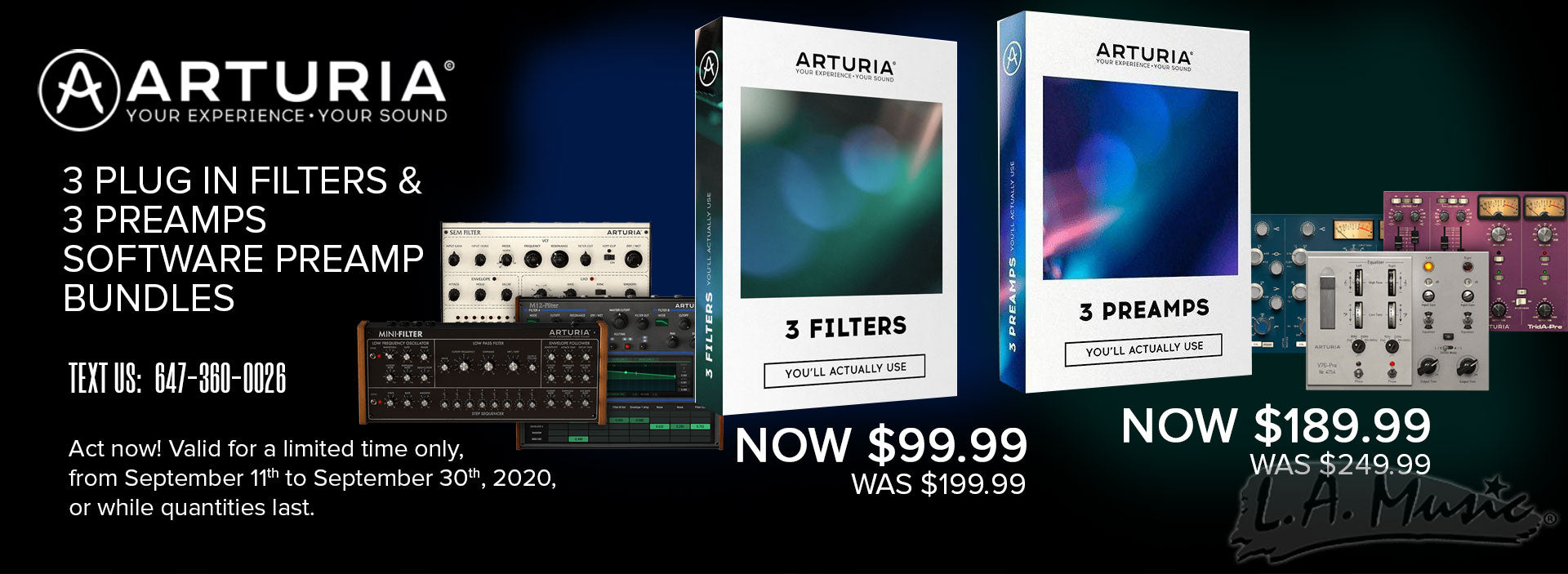 Arturia 3 Filters and 3 Preamps Software Bundles Instant Rebates