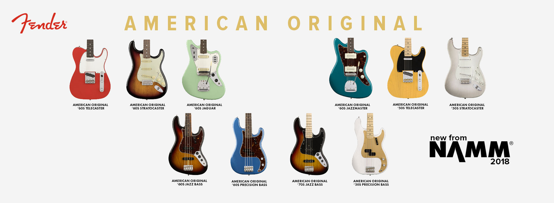 New Fender American Original Series