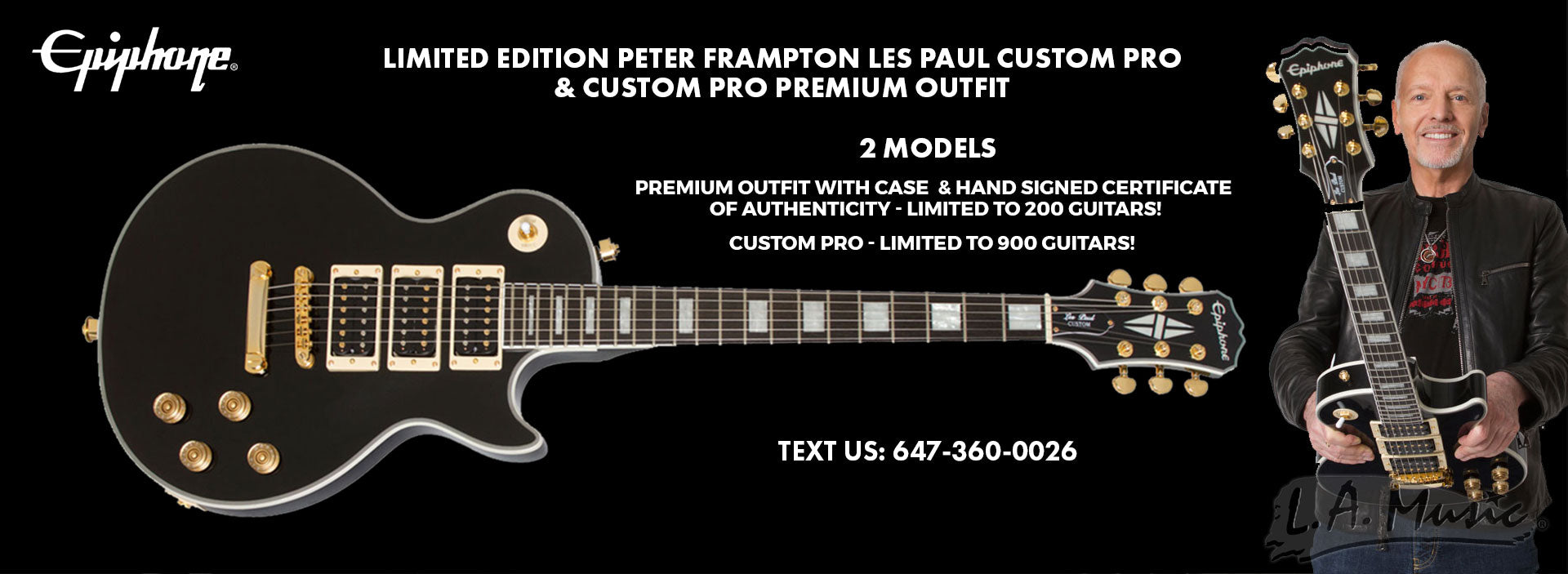 Epiphone Limited Edition Peter Frampton Custom PRO and Custom Pro Premium Outfit