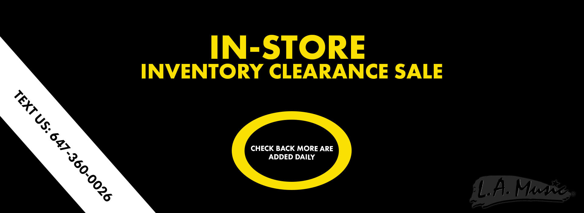 In-store Inventory Clearance Sale