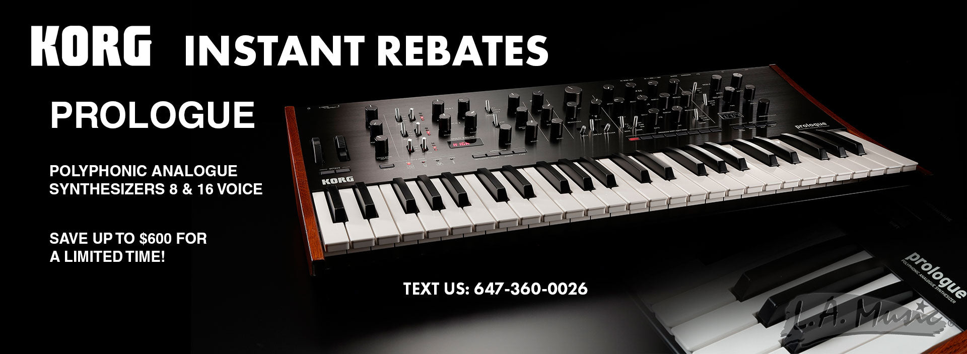 Korg Prologue Instant Rebates