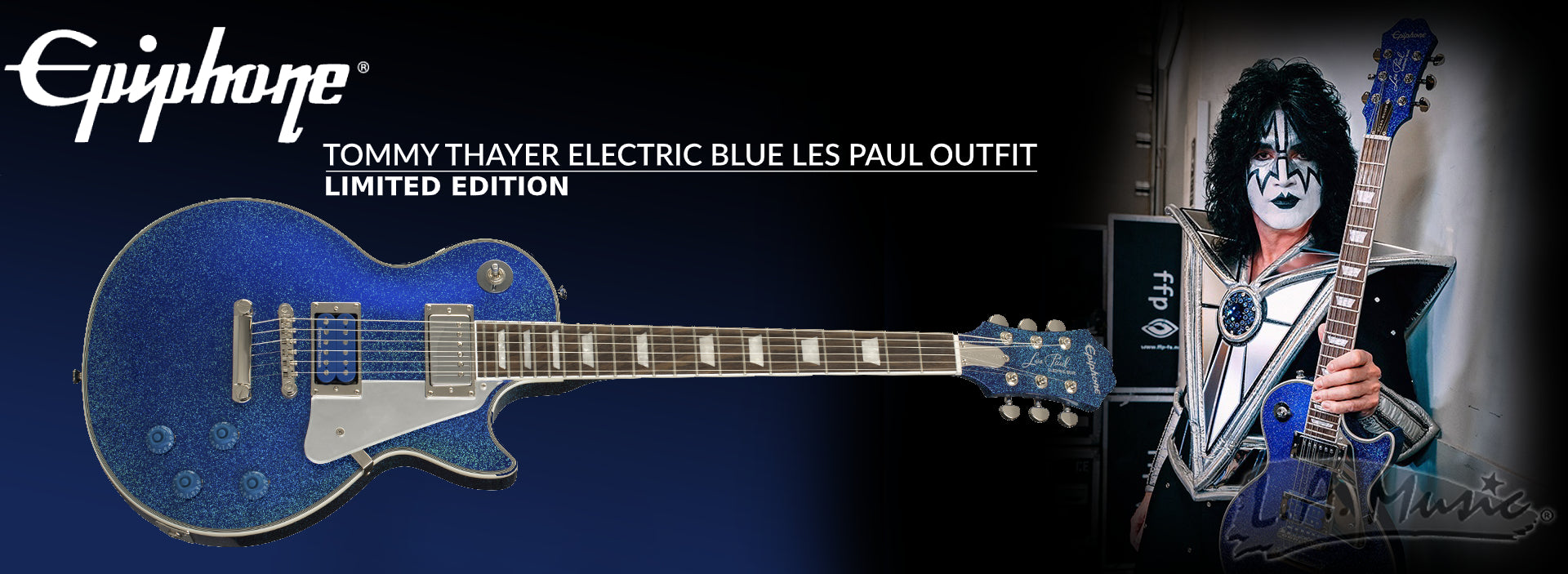 Epiphone Tommy Thayer Electric Blue Signature Les Paul Outfit LIMITED EDITION