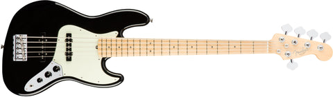 American Professonal Jazz Bass V Maple Neck Black 0193952706 - L.A. Music - Canada's Favourite Music Store!
