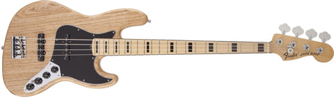 Fender American Deluxe Jazz Bass® Ash, Maple Fingerboard, Natural, 3-Ply B/W/B Pickguard 0194582721