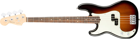 American Professonal Precision Bass Left Handed Rosewood Neck 3 Tone Sunburst 0194620700