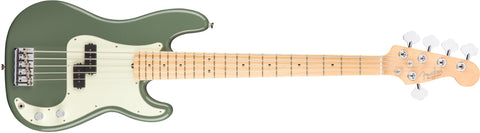 American Professonal Precision Bass V Maple Neck Antique Olive 0194652776 - L.A. Music - Canada's Favourite Music Store!