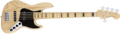 Fender American Elite Jazz Bass® V Ash, Maple Fingerboard, Natural 0197102721 - L.A. Music - Canada's Favourite Music Store!