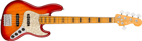 Fender American Ultra Jazz Bass V Maple Fingerboard Plasma Red Burst 0199032773