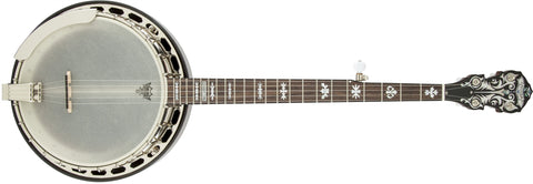 Fender Deluxe Concert Tone 58 Banjo With Case, Rosewood Fingerboard, Cherry Sunburst 0955610821