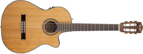 Fender CN-240SCE Thinline Classical, Natural 0960326021 - L.A. Music - Canada's Favourite Music Store!